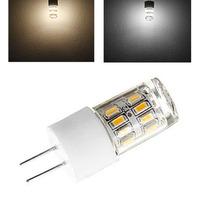 G4 Ceramic Base 3W 27-LEDs 3014 SMD 200LM Natural / Warm White Light LED Crystal Corn Bulb (AC 200V-240V) 2pcs Pack of