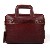 2014 Male genuine leather briefcase fashion notebook Handbag business casual laptop bags men's vintage messenger  free shipping