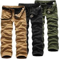 New 2014 Winter European Plus size  Thick Velvet Warm Loose Mens Pants Cargo Outdoor Sport Men Trousers Long 3 Color