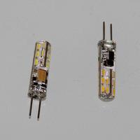 8mm Dia Silica Coated G4 3014 SMD 24-LEDs 2W 100-120lm Nature / Warm White LED Light bulb DC AC 12V ( pack of 10) Freeshipping