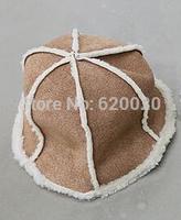 free ship Winter fashion Korean tidal basin cap plush warm hat millinery Hexagon watermelon hat