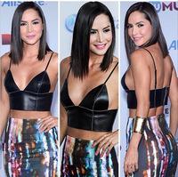 Sexy two piece bodycon dress celebrity carmen villalobos faux leather bustier crop top bra lets print dress set vestido