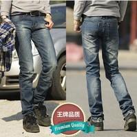 New Fashion 2014 Denim Cotton Male Casual Mens Straight Pants Slim Trousers Korea Style Jeans Men