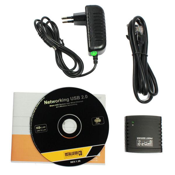 2014 Sanwony Amazing USB 2.0 LPR Printer Print Server Hub Adapter Ethernet LAN Networking Share Hot(China (Mainland))