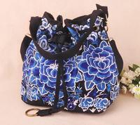 Free shipping Ethnic style embroidery ethnic shoulder bag ladies bag shoulder bag big bag lady style handbag design messenger