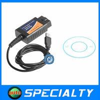 2014 New professional ELM327 USB interface OBD2 / OBDII V1.5 Auto car Diagnostic tool free shipping