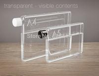 A5 paper Flat type Portable plastic bottle transparent leak proof  bottle creative lemon cup water bottle