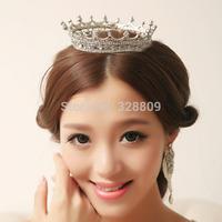 Top quality Princess crystal big tiaras Fashion wedding bridal tiara wholesale wedding dress rhinestone crown  jewelry