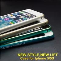 Terrific Hands for Iphone 5s Case for iphone 5 Cases.Luxury Slim Aluminium Alloy Bumper Arc Side Frame Latest Design