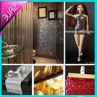 Fashionable and beautiful metallic mesh fabric