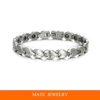 Charm Radiation protection Titanium Steel Magnetic Stones health Bracelet (MATE B170)