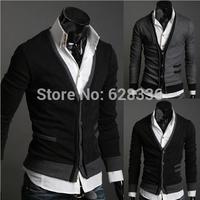 2014 autumn Mens sweaters male V neck fashion winter Cardigan men Knitwear jumpers Slim Casual Sweater brand cardigan masculino