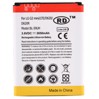 BL-59UH 2650mAh Replacement Rechargeable Mobile Phone Battery for LG G2 mini LITE D620 D620R