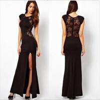 2014 Free shipping fashion o-neck  tight maix dress party dress, sexy dress