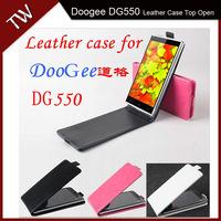 DOOGEE DG550 Case cover Good Quality Top Open PU Flip case cover for DOOGEE DG550 cellphone free shipping