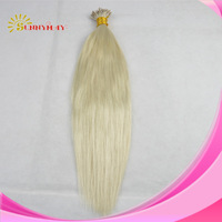 Wholesale Price Sunnymay  100% Brazilian   Virgin Hair  #613 Light Color Straight  I Tip   hair  ,Very Soft Hair