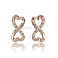 Novelty designer rhinestone earrings for women earing brand gold plated jewelery