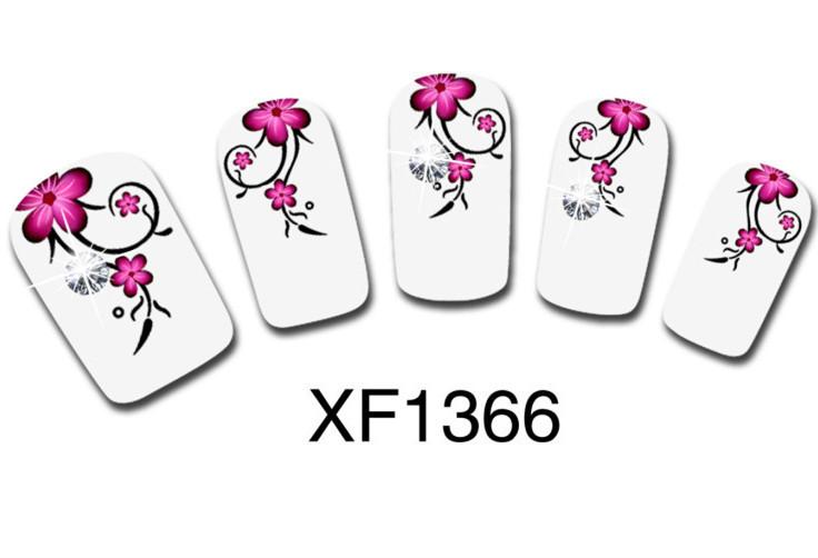 1 Sheet Plum Blossom Motif Nail Tip Art Water Transfers Decal Sticker XF1366 NEW(China (Mainland))
