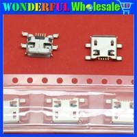 Free Shipping 20pcs Micro USB 5P,5-pin Micro USB Jack,5Pins Micro USB Connector Tail Charging socket