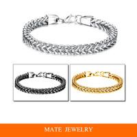 Personality Heart Style Titanium Steel Chain Bangle Men/women Bracelet(MATE B253)