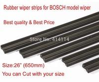"Free shipping Auto Car Vehicle Insert Rubber strip Wiper Blade (Refill) 6mm Soft 26"" 650mm 2pcs/lot car accessories"