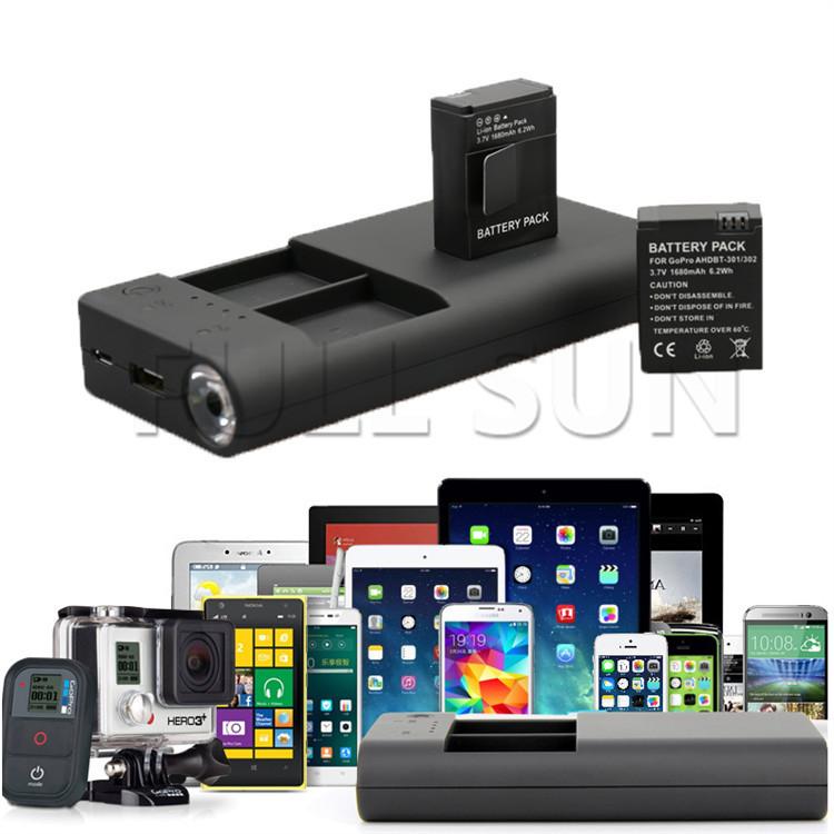 Зарядное устройство для фотокамеры Fullsun-Brandnew potrable gopro 3 3 + ahdpt/301 mp3 mp4 psp FS-charger1 зарядное устройство duracell cef14 4 hour charger 3 480