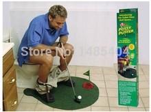 Mini Golf Toys Toilet Closestool Golf Brand Putter Golf Potty Toys(China (Mainland))