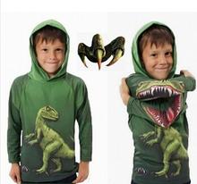 Los bebés con capucha sudadera dinosaurios de la historieta de Halloween Sport Wear espectáculo Cosplay Costume Kids niños los niños ropa suéter Sudaderas(China (Mainland))