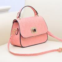 2014 women's sweet fashion handbag small bag female one shoulder cross-body for Crocodile women's bags