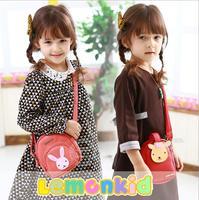 2014 New lemonkid Children shoulder bag Animal models of high-grade pu Kids bags Girls Messenger Bag 24318#