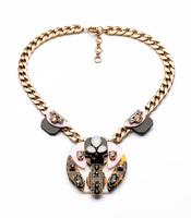 2014 Stylish Leopard Print Statement Necklace Charm Jewelry Wholesaler  Nickel & Lead Free Design Jewelry Min $20(can mix)