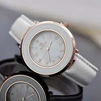 SKONE natural shell Watch panel fashion ladies leather strap quartz watch