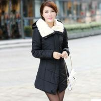 2014 new European and American women's fashion women's Slim Down Nagymaros collar down coat warm cotton winter dress down