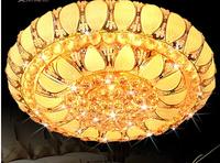 Crystal lamp living room lights gold crystal lamp circle bedroom lamps lighting led ceiling light hall lights