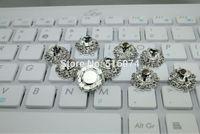 100pcs/lot 18mm HOT SALE Beautiful Rhinestone crystal Button For Wedding Invitation decoration ,best decoration hair accessories