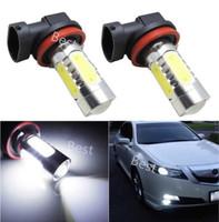 2Pcs H11 Bulb Car 12V High Power 7.5W SMD LED COB Auto Driving Running Headlight Fog Tail Lamp DRL White Free Shipping