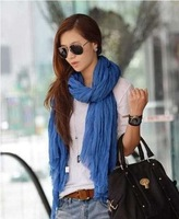 Mixed wholesale autumn Winter American and Europe Hottest Women Fashion Solid Cotton Voile Warm Soft Scarf Shawl Cape