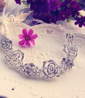 Bride rhinestone hair band hair accessory marriage accessories