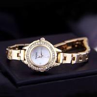 2014 Fashion Luxury Brand Minimalism Ladies Women Rhinestone Watch Golden silver Stainless Steel Wrist Watches Christmas gift