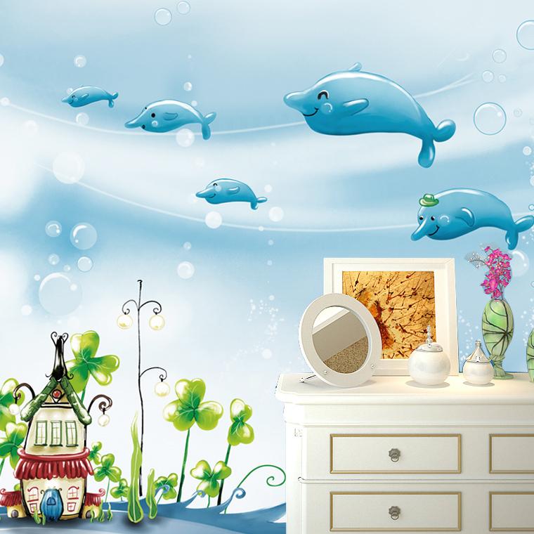 Kinderzimmer Tapete Unterwasserwelt : delphin tapete aus China delphin tapete Gro?h?ndler Aliexpress.com