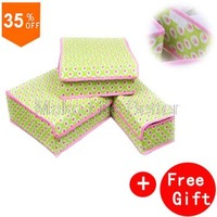 Strawberry Pattern Storage Box with Covered for Bra,underwear,socks, Bamboo Underwear storage box covered Organizer+Gift