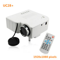 Free shipping portable mini proyector LED UC28+ HDMI full HD 1080P video projector for home theater for Andoird