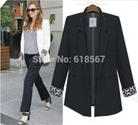 Plus Size Blazer Women Feminino Thicken Slim Long-Sleeved Blaser Outwear Europe and America Women Blazer White Black Color