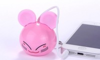Mini Cartoon portable Speaker enjoy with laptop cellphones Mp3 players 3.5 audio plug