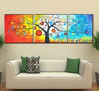 "Wall Home Decoration Cross Stitch Precision Printing "" Rainbow Tree"" Cross-Stitch Kit , DIY Cross Stitch Sets"