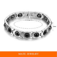 Germanium Power Bracelet Charm chain Stainless Steel Italian health Bracelets & Bangles (MATE B177)