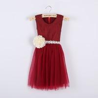 Wholesale ! Girls summer lace flower gauze dress , kids clothes girls ,girls clothing , 6pcs/lot