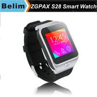 Free Shipping New ZGPAX S28 Smart Watch Phone GSM Quad band HD Screen Handsfree Bluetooth Watch Dialer Pedometer Anti-lost FM