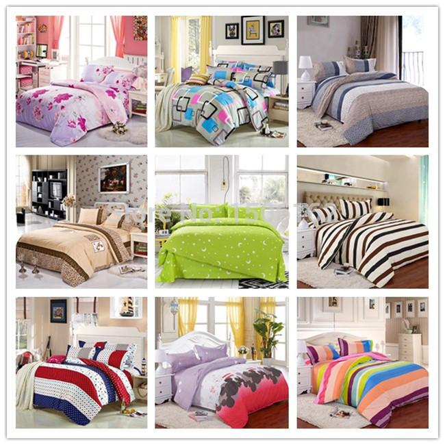 Frete grátis têxteis lar 3 / 4pcs roupas de cama roupa de cama de luxo impresso completo / rainha / king size edredon capa / folha de cama jogo de cama(China (Mainland))