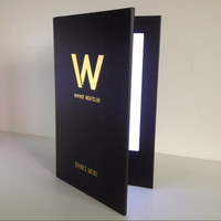 Model M5585 LED backlit Menus for A5 paper with standard black PU